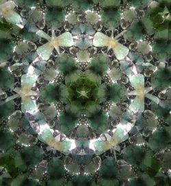画像3:  『誕生石の万華鏡』 オイル万華鏡   5月 エメラルド
