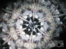 画像3:  『誕生石の万華鏡』 オイル万華鏡  3月 アクアマリン