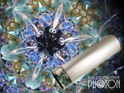 画像1:  『誕生石の万華鏡』 オイル万華鏡   12月 ターコイズ