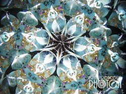 画像2:  『誕生石の万華鏡』 オイル万華鏡   12月 ターコイズ